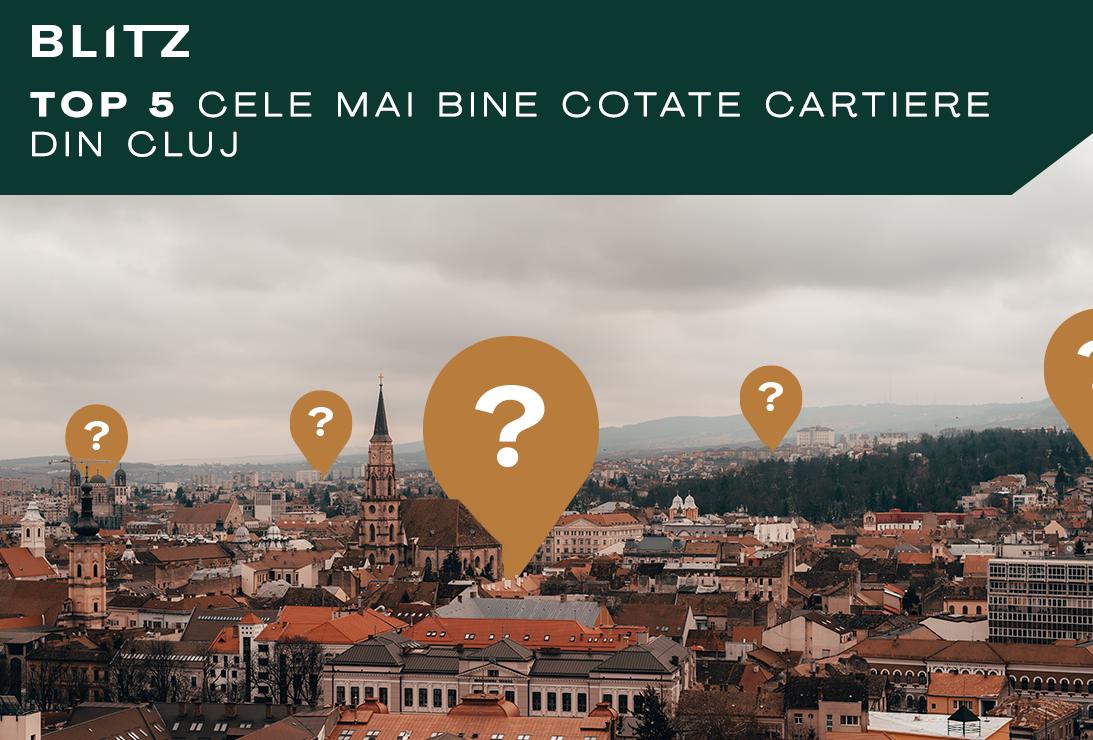 top 5 cele mai bine cotate cartiere din Cluj