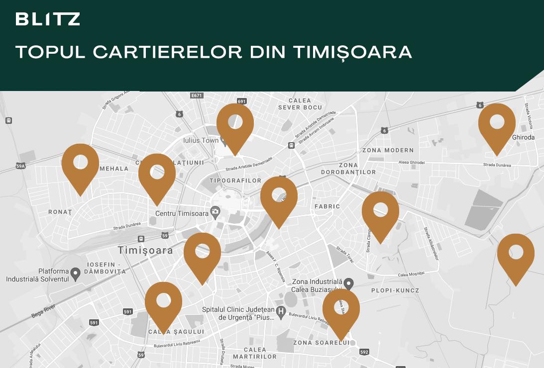 Topul 4 cartiere în Timișoara